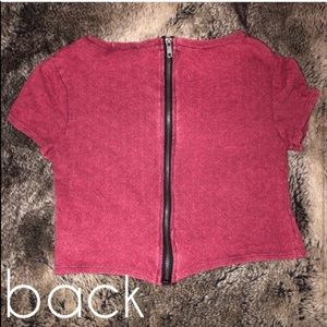 Urban Outfitters | Zippered Red Crop Top